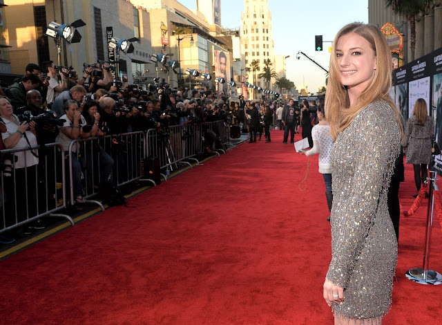 Marvel Comics Actress Emily VanCamp at Captain America - The Winter Soldier Hollywood Premiere