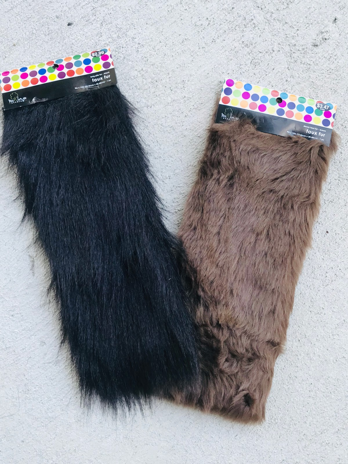 Image: Faux Fur Materials needed to make clutch bags at home. Do It Yourself Project