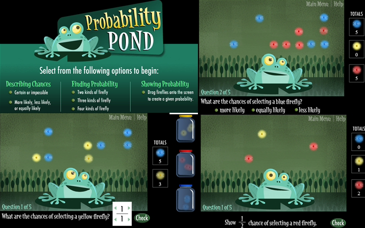 Measurement curiosities: Online games to practice probability