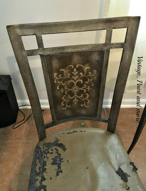 Vintage Paint and more... a thrift store chair find before makeover picture