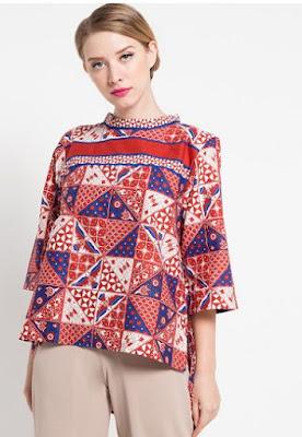 Blouse baju batik wanita danar hadi