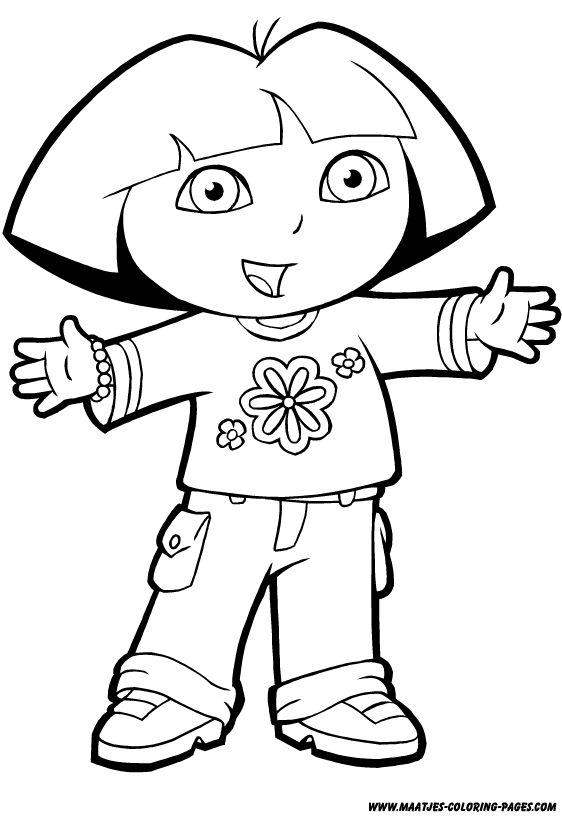 Dora the explorer coloring pages coloring pages for Dora the explorer coloring pages free