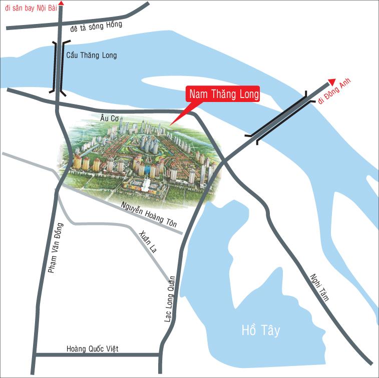 Vị trí Chung cư The Link 345 Caputra