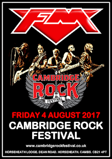 FM headline Cambridge Rock Festival 4 August 2017