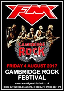 FM headline Cambridge Rock Festival 4 August 2017