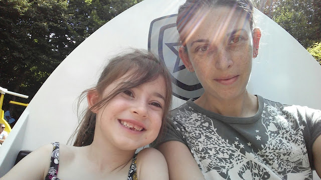 With my eldest on a ride