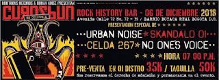 Concierto de CURASBUN en Bogotá 2018