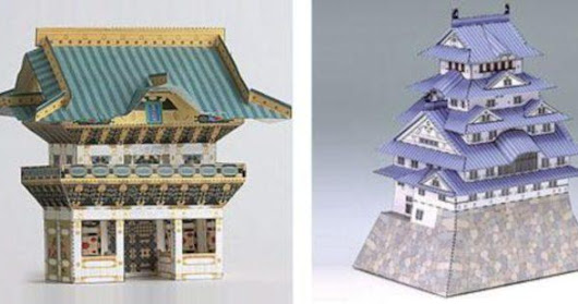 Japanese Traditional Architectural Paper Models - by Kids Gakken