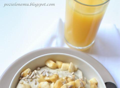 Śniadaniowo mi #3: Bananowy budyń jaglany