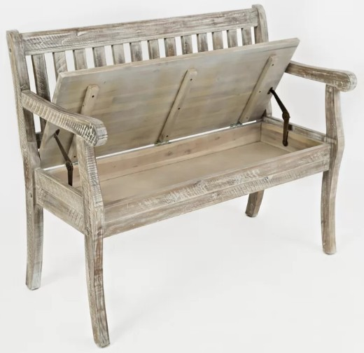 Weathered Driftwood Like Storage Bench