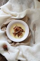 Pasta de trufa con salsa de foie