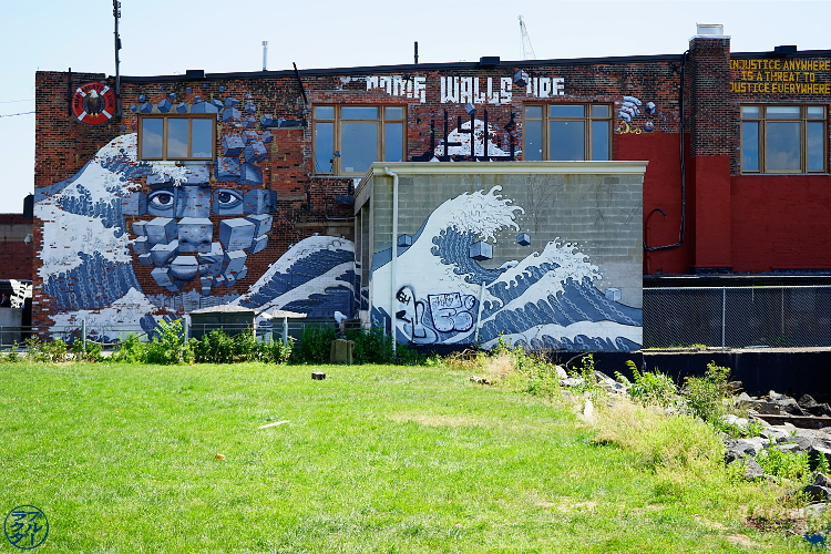 Le Chameau Bleu - Coin de verdure à Red Hook -  Balade dans Brooklyn New York