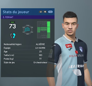 PES 2019 Faces Zinedine Ferhat by TiiToo Facemaker