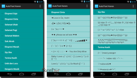 AutoText Keren di android