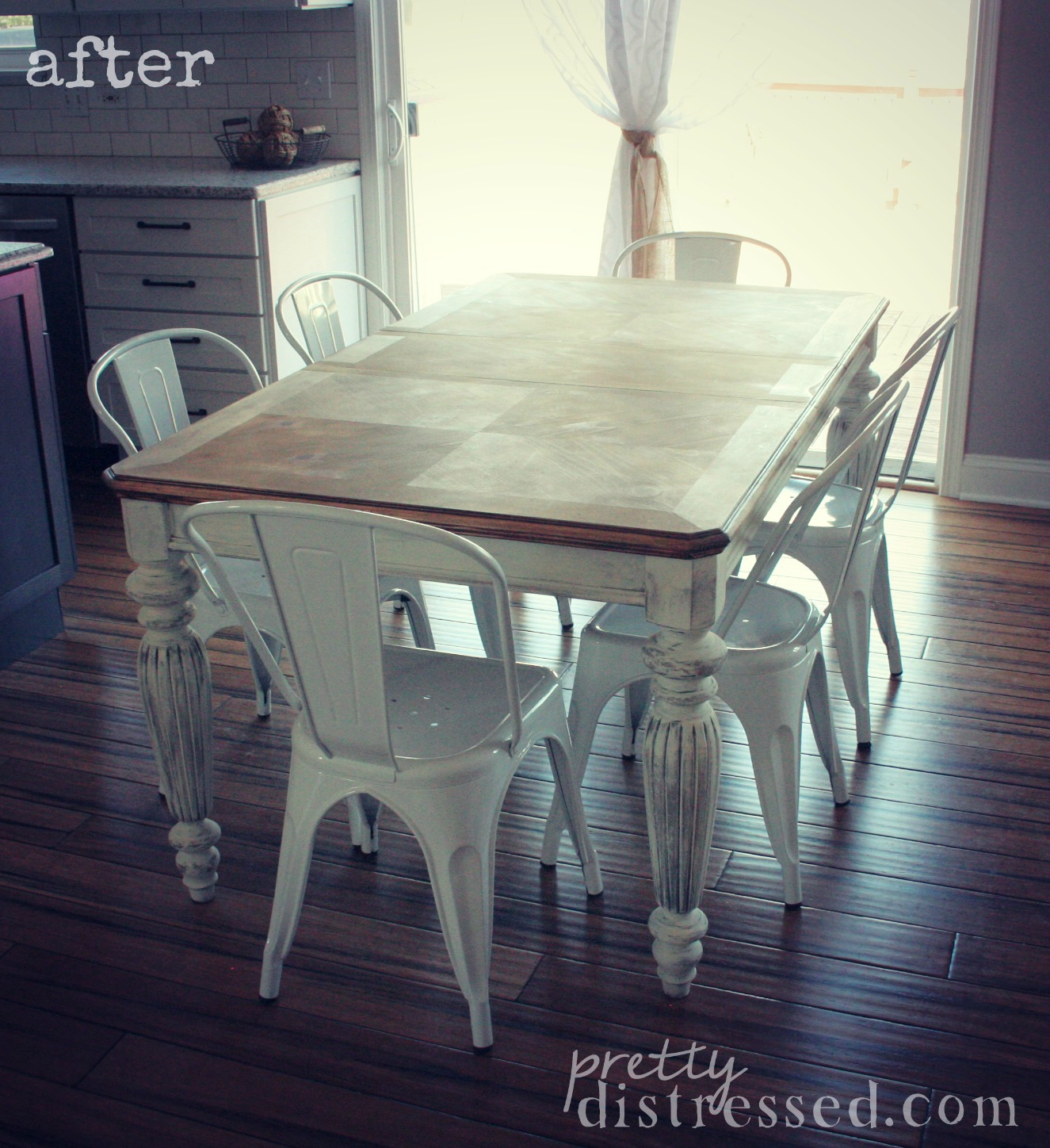 pretty distressed: the making of a farmhouse table