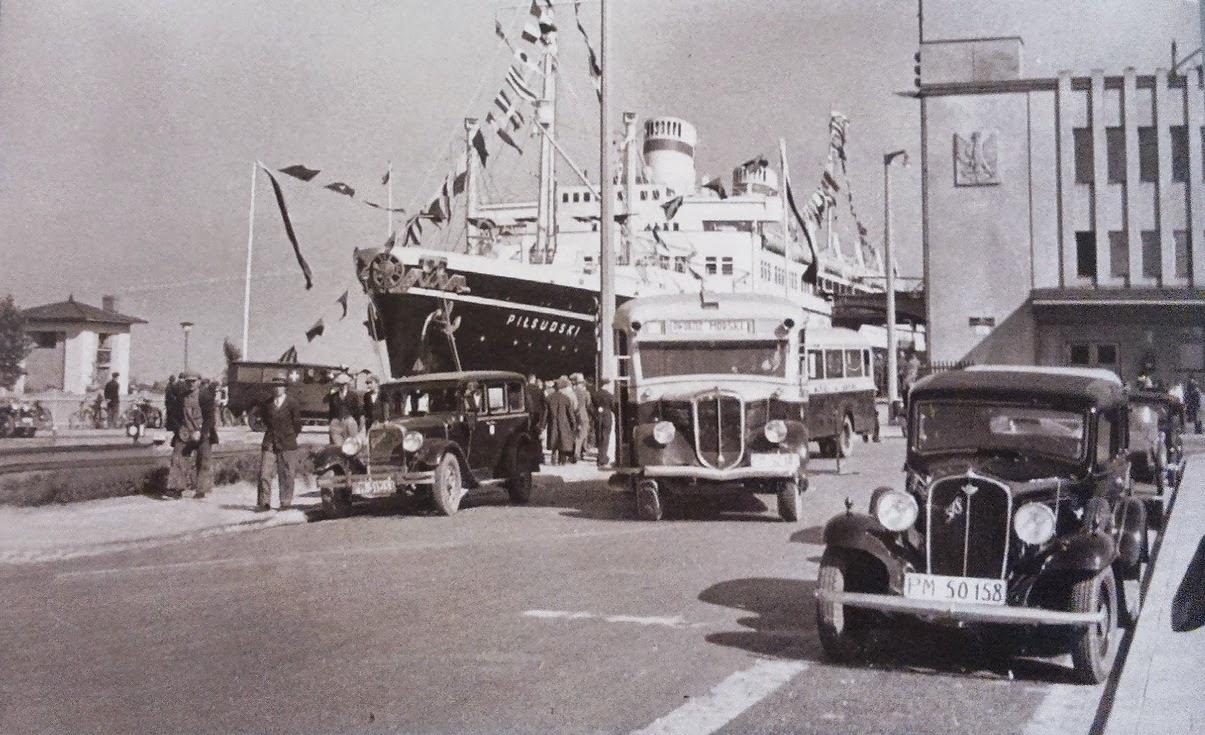Nabrzeże Dworca Morskiego w Gdyni, lata trzydzieste XX w.