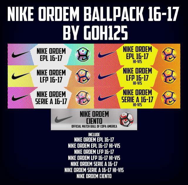 Nike Ordem Ball 2016/2017 PES 2013