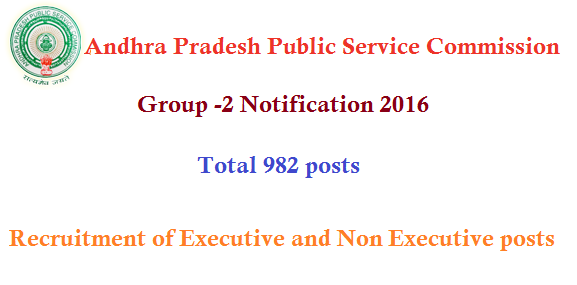 APPSC Group-2 Notification 2016-2017