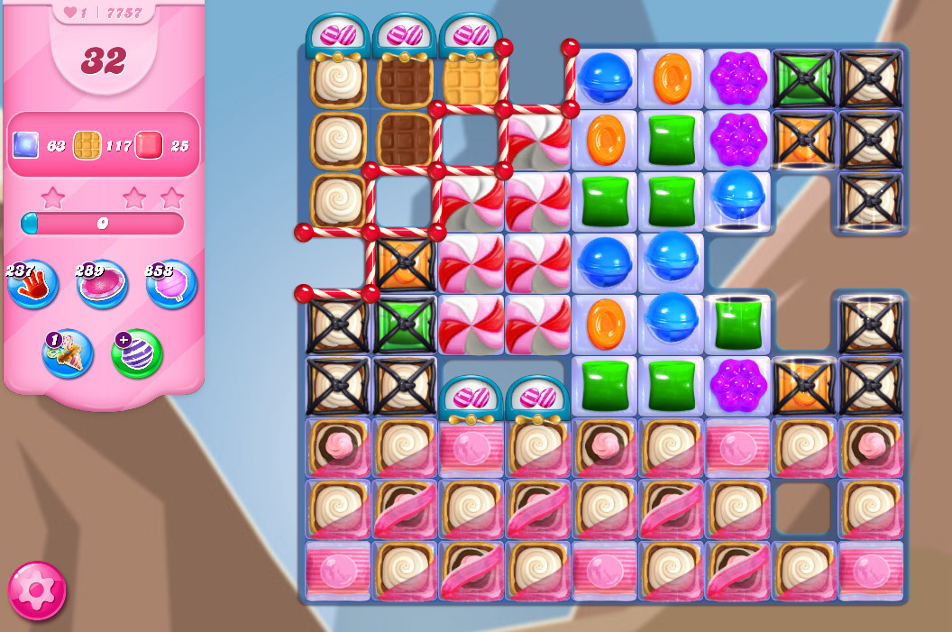 Candy Crush Saga level 7757
