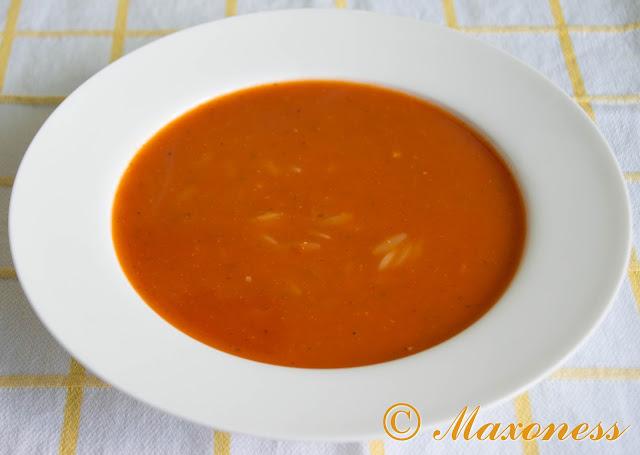 Томатный суп с орзо