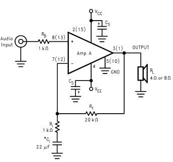 Circuits Apmilifier: LM4765 2 x 30 watt amplifier circuit