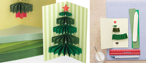 Christmas card idea 3D tree