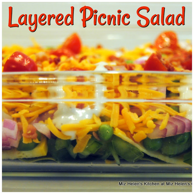 Dinner Layered Picnic Salad at Miz Helen's Country Cottage