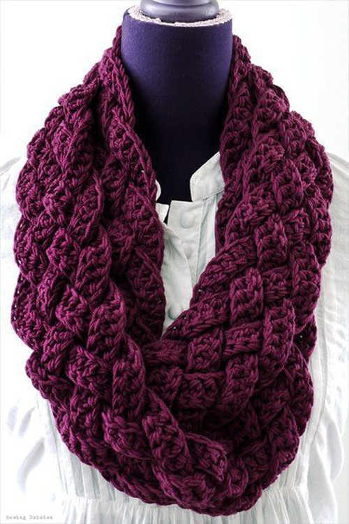 Easy Woven Scarf / Cowl - Free Pattern