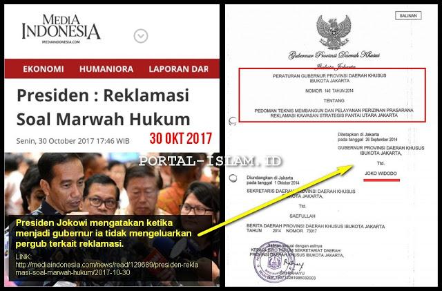 Ketahuan! Jokowi Klaim Saat Jadi Gubernur DKI Tidak Keluarkan Pergub Reklamasi, Elisa Sodorkan Bukti Pergub