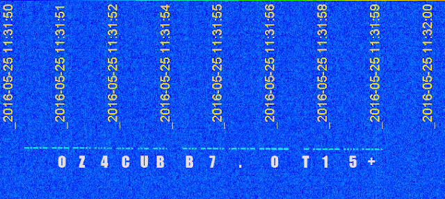 AAUSAT-4 Spectrum on SpectraVue