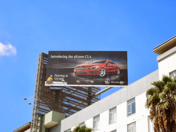 Mercedes-Benz All new CLA billboard ad
