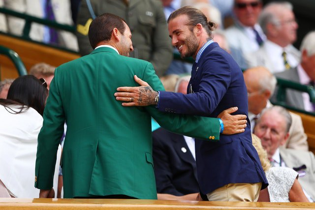 Sergio García en Wimbledon