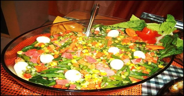Creamy Buttered Mixed Vegetables With Quail Eggs Recipe