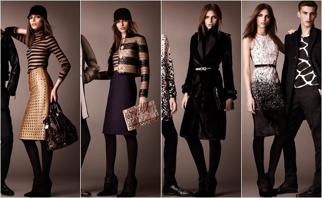 Burberry pre-fall 2013 chic looks