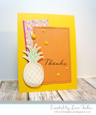 Tropical Thanks card-designed by Lori Tecler/Inking Aloud-stamps and dies from SugarPea Designs