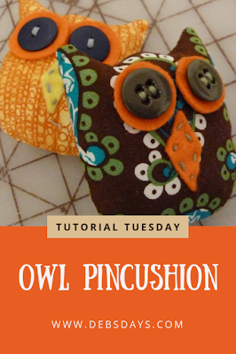 Homemade Fabric Owl Pincushions Sewing Project