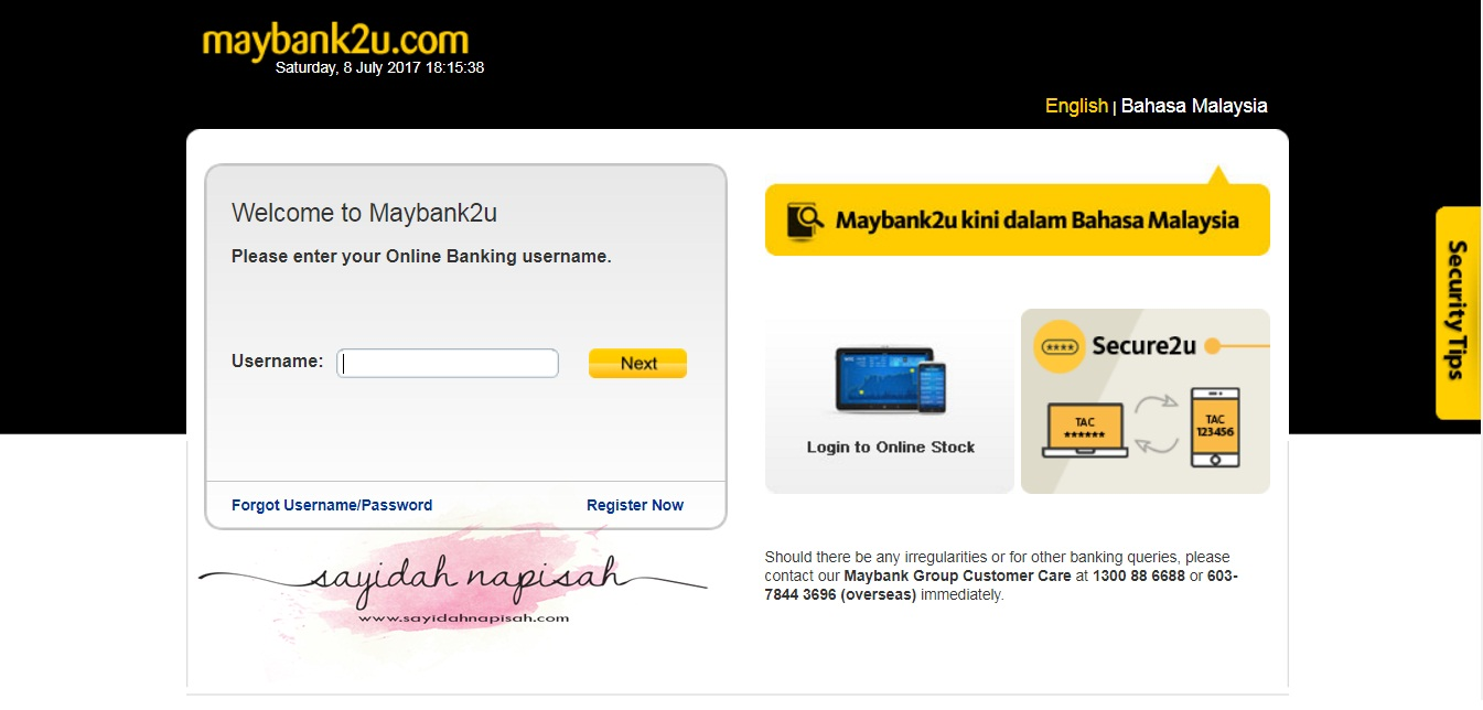 cara bayar PTPTN secara online (melalui maybank2u & cimbclicks)