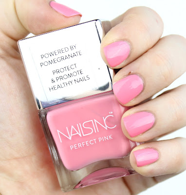 Nails Inc Perfect Pink Nail Polish in Rose Street swatch