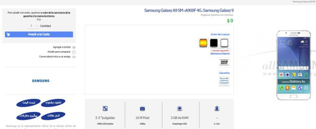 The Samsung Galaxy A9 and its characteristics