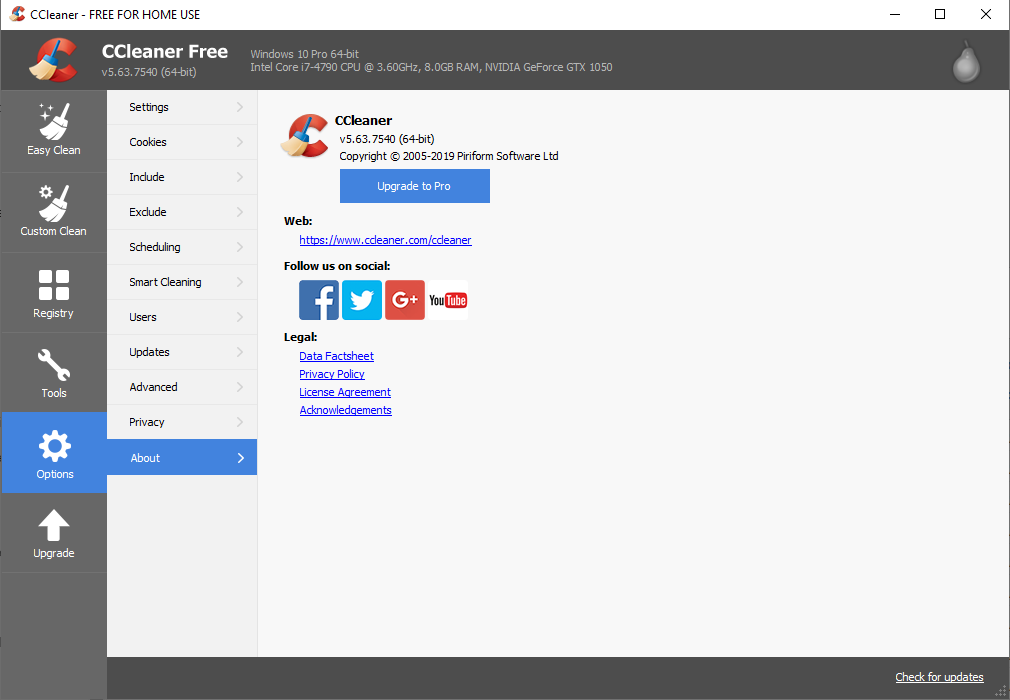 CCleaner 5.63.7540