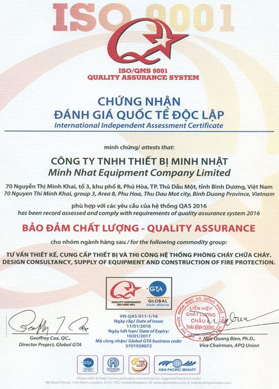 Minh Nhat chuyen cung cap vat tu thiet bi phong chay chua chay