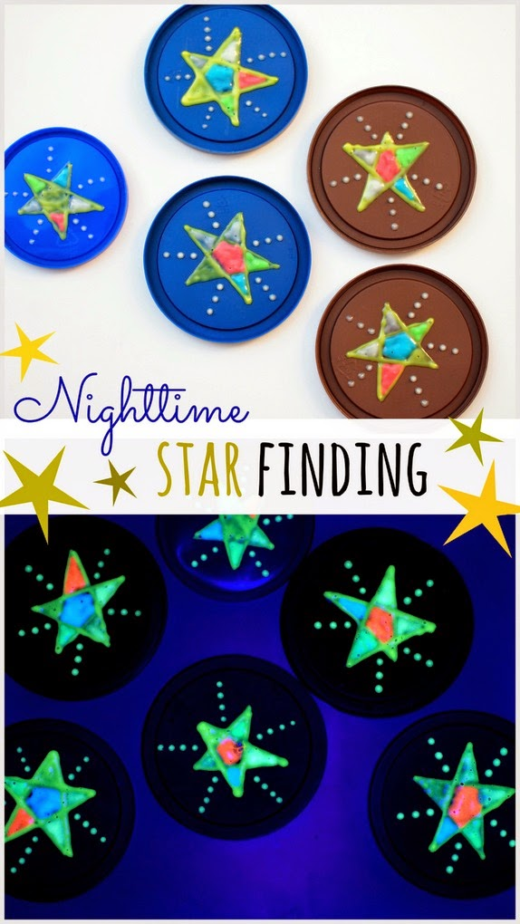Nighttime Star Finding Game- A fun hide-and-seek game played with stars!