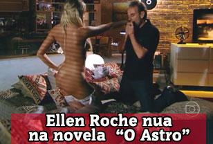 Ellen Roche nua na novela da globo O Astro