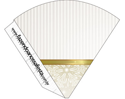 Gold and Grey Free Printable Cones.