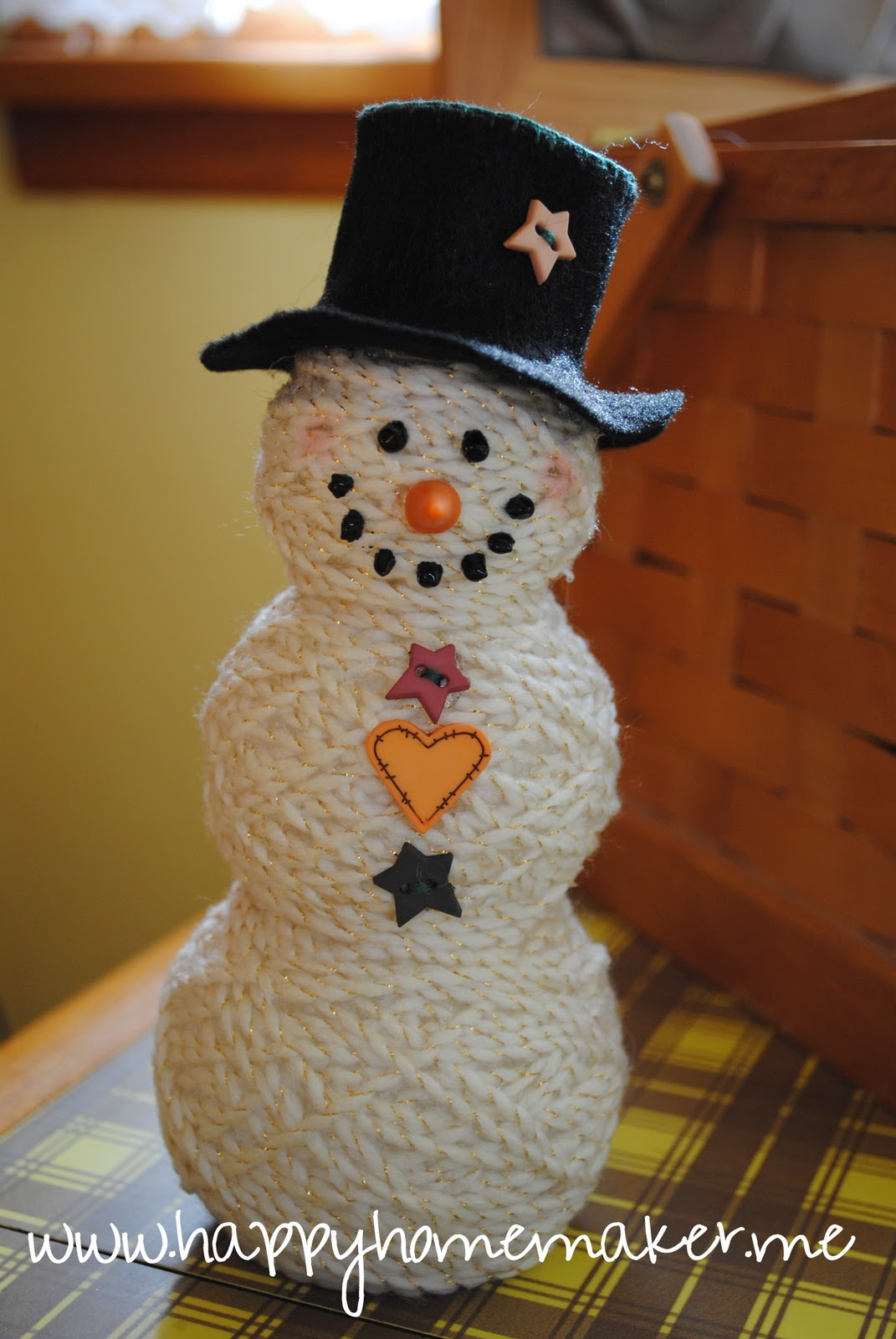 Easy Snowman Snack: Happy Homemaker Me: Merry [home] Making Day 1: Yarn Ball