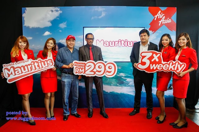 Penerbangan Terus Air Asia X Ke Mauritius 4 Oktober Ini