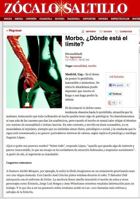 revista QUO   Morbo, ¿Dónde está el límite?