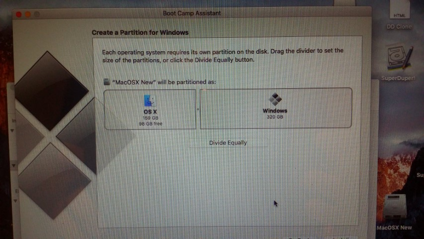 Migrating/cloning an Apple MAC OSX with Windows 7 / 8 / 10