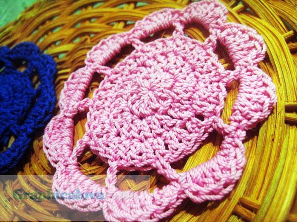 pola tatakan gelas crochet