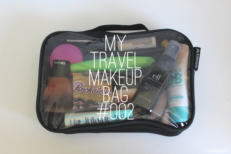 how to pack makeup bag for travel
